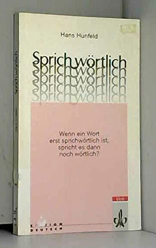9783126753395: Sprichwortlich