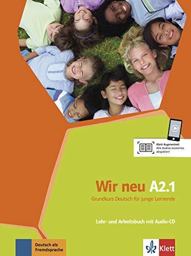 9783126758758: Wir neu / Lehr- und Arbeitsbuch mit Audio-CD A2.1: Grundkurs Deutsch f�r junge Lernende