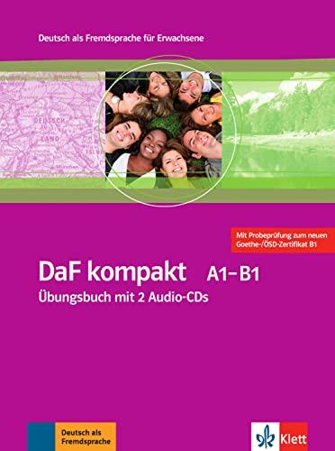 9783126761819: DaF Kompakt - Nivel A1-B1 - Cuaderno de ejercicios + 2 CD (Edición en un solo volumen)