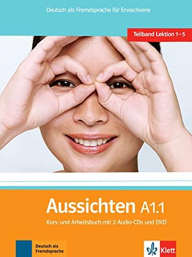 9783126762052: Aussichten. A1.1. Kursbuch-Arbeitsbuch. Per le Scuole superiori. Con 2 CD Audio. Con DVD-ROM. Con espansione online