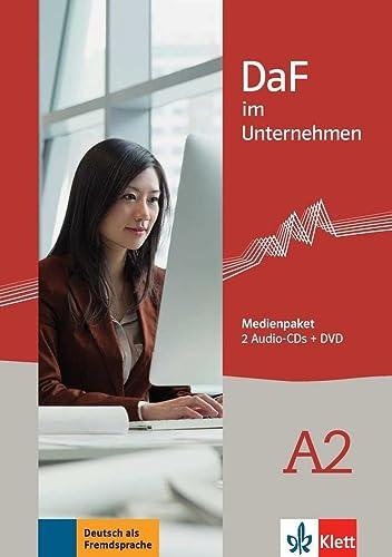 9783126764476: DaF im Unternehmen: Medienpaket A2 - 2 Audio-CDs + 1 DVD