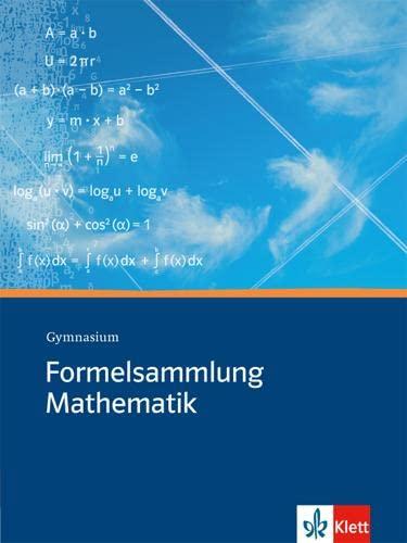 9783127185102: Formelsammlung Mathematik. Gymnasium: Sekundarstufe I und II