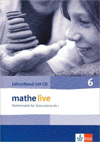 9783127203233: mathe live. Lehrerband mit CD-ROM 6. Schuljahr. Allgemeine Ausgabe: Mathematik für Sekundarstufe I