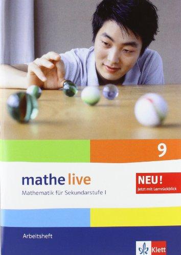 9783127203547: mathe live. Arbeitsheft mit Lösungsheft 9. Schuljahr. Allgemeine Ausgabe