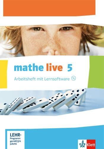 9783127206159: Mathe Live 5. Ausgabe W. Arbeitsheft mit Lösungsheft und Lernsoftware. 5.Schuljahr