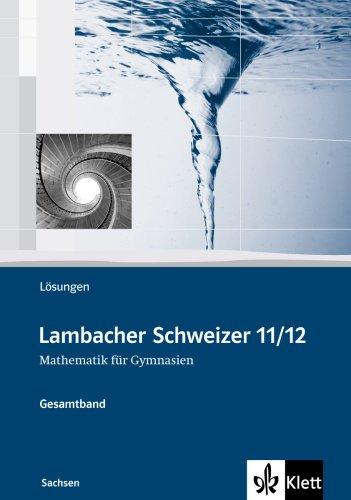 9783127331431: Lambacher Schweizer. Oberstufe. Lösungen. Sachsen