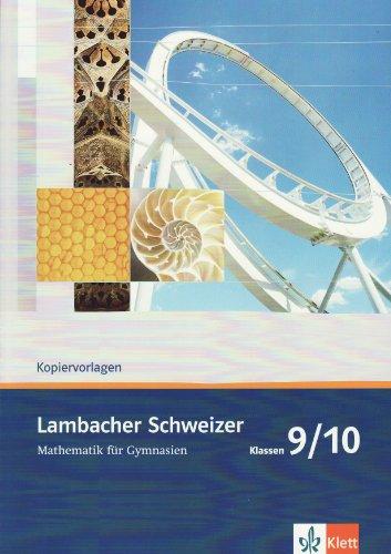 9783127348071: Lambacher Schweizer - Neubearbeitung. 9. Schuljahr. Allgemeine Ausgabe. Serviceblätter und Lösungen: Ausgabe für Bremen, Hamburg, Mecklenburg-Vorpommern, Schleswig-Holstein und Sachsen-Anhalt