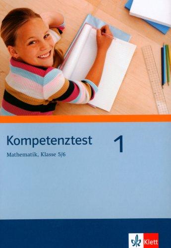 9783127404678: Kompetenztest Mathematik 1. Klasse 5/6. Arbeitsheft. Berlin, Brandenburg
