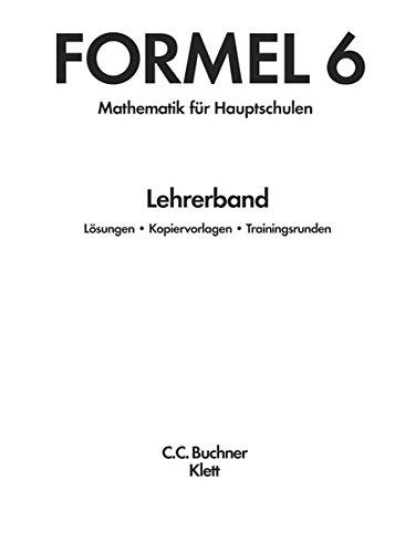 9783127406634: Formel. Lehrerband 6: Mathematisches Unterrichtswerk für Hauptschulen in Bayern