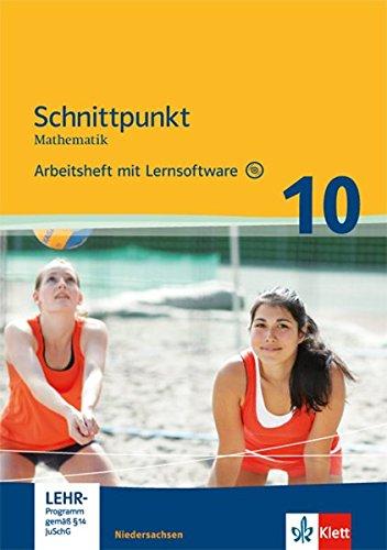 9783127421958: Schnittpunkt Mathematik - Ausgabe für Niedersachsen / Arbeitsheft mit Lösungen und Lernsoftware 10. Schuljahr - Mittleres Niveau