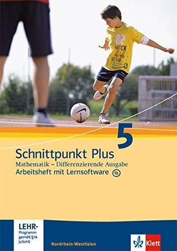 9783127424157: Schnittpunkt Mathematik Plus - Differenzierende Ausgabe für Nordrhein-Westfalen. Arbeitsheft mit Lösungsheft und Lernsoftware 5. Schuljahr