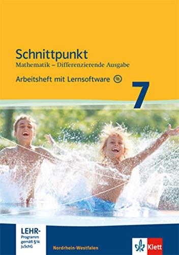 9783127424379: Schnittpunkt Mathematik - Differenzierende Ausgabe für Nordrhein-Westfalen. Arbeitsheft mit Lösungsheft und Lernsoftware Mittleres Niveau 7. Schuljahr