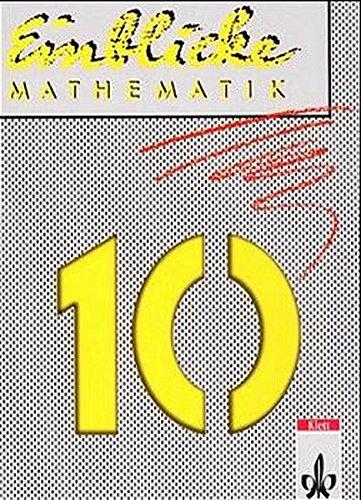 9783127436600: Einblicke Mathematik, Ausgabe Nordrhein-Westfalen, EURO, 10. Schuljahr B-Kurs, (Rheinland-Pfalz, A-Kurs), EURO