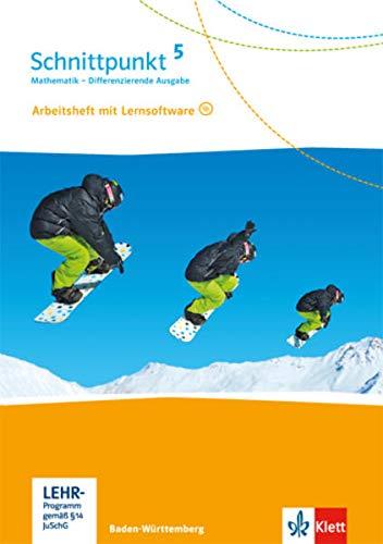 9783127443554: Schnittpunkt Mathematik - Differenzierende Ausgabe für Baden-Württemberg. Arbeitsheft mit Lösungsheft und Lernsoftware 5. Schuljahr