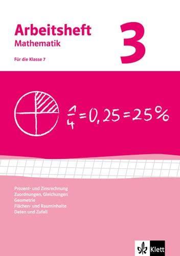 9783127468038: Arbeitshefte Mathematik 3. Neubearbeitung. Prozent- Zinsrechnung, Zuordnungen, Gleichungen, Geometrie, Flächen-, Rauminhalt. Arbeitsheft plus Lösungsheft
