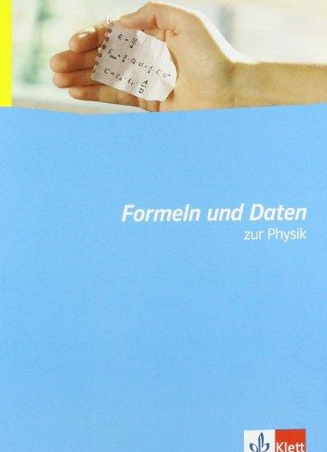 9783127726015: Formeln und Daten zur Physik: Neubearbeitung.Sekundarstufe II