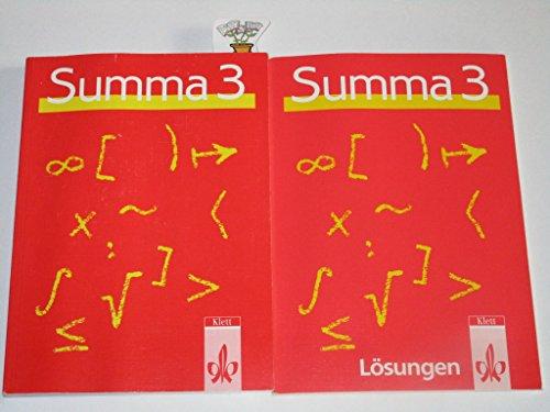 9783128021904: Lösungen zu Summa 3. Mathematik für berufliche Schulen, insbesondere für Fachoberschulen und Fachgymnasien (Livre en allemand)