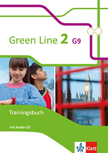 9783128543024: Green Line 2 G9. Trainingsbuch mit Audio CD. Neue Ausgabe