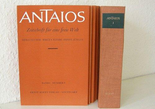 9783129003107: Antaios- Jahresbände I.