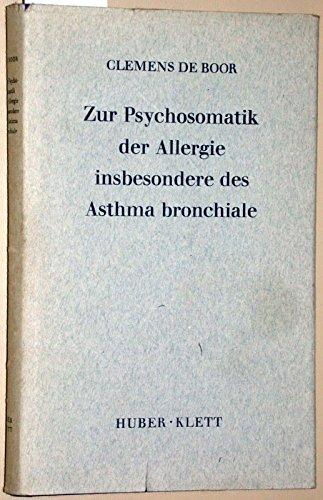 9783129011003: Zur Psychosomatik der Allergie, insbesondere Asthmabronchiale