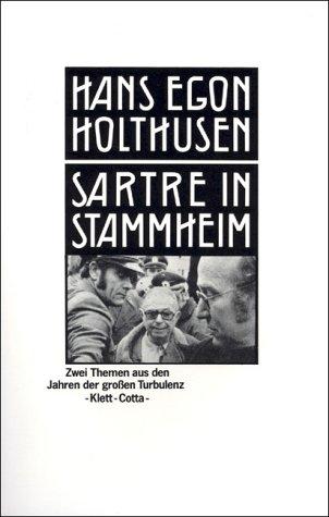 9783129037607: Sartre in Stammheim: Zwei Themen aus den Jahren der grossen Turbulenz