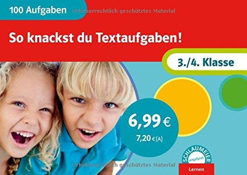 9783129200247: 100 Aufgaben - So knackst du Textaufgaben! 3./4. Klasse