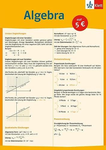 9783129203323: Auf einen Blick. Algebra