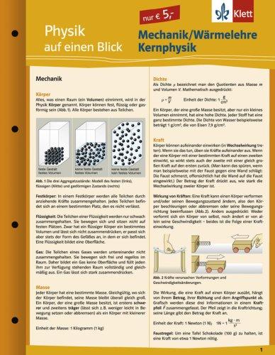 9783129203491: Physik auf einen Blick. Mechanik - Wärmelehre - Kernphysik