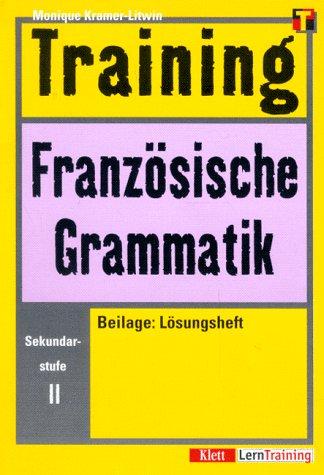 9783129221426: Training, Französische Grammatik, Sekundarstufe II