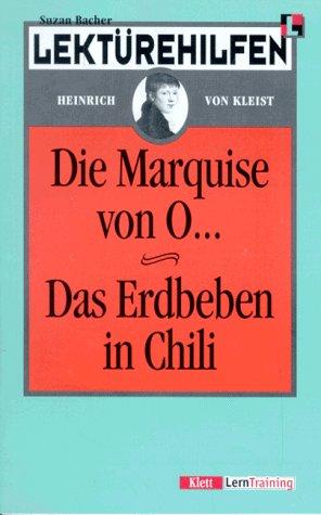 9783129223284: Klett Lekturehilfen: Kleist: Die Marquise Von O.../Das Erdbeben in Chile