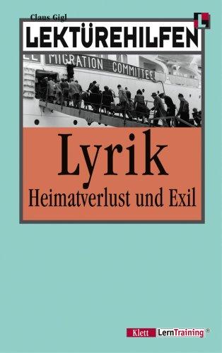 9783129223710: Lektürehilfen Lyrik - Heimatverlust und Exil