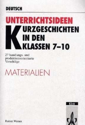 9783129226155: Kurzgeschichten in den Klassen 7-10, m. Materialienband