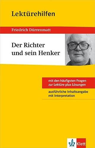 9783129230930: Klett Lektürehilfen Friedrich Dürrenmatt Der Richter und sein Henker