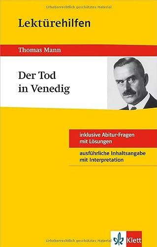 "9783129230954: Klett Lektrehilfen Thomas Mann ""Der Tod in Venedig"""