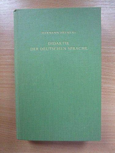 9783129237601: Didaktik der deutschen Sprache: Einf. in d. Theorie d. muttersprachl. u. literar. Bildung