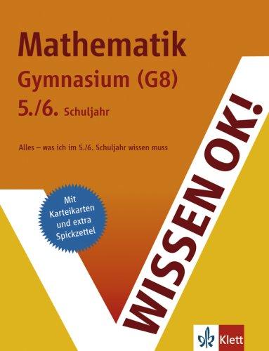 9783129260050: Wissen ok! Mathematik 5./6. Schuljahr Gymnasium (G8)