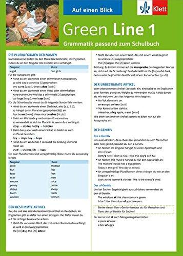 9783129260616: Green Line 1 Grammatik passend zum Schulbuch