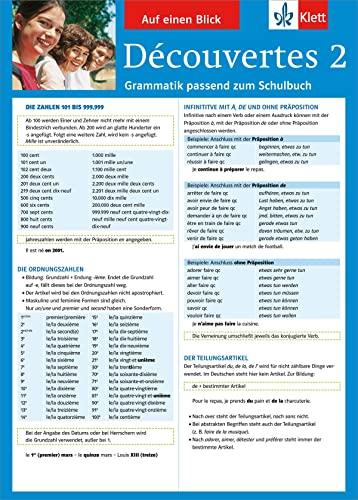 9783129260692: Découvertes 2. Auf einen Blick. Grammatik