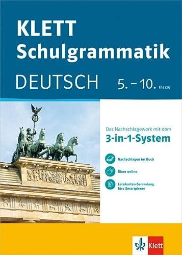 9783129260814: Klett-Schulgrammatik. Deutsch 5.-10. Klasse mit Online-Übungen und mobile Lernkarten