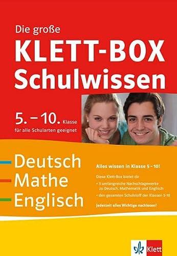 9783129260869: Die gro�e Klett-Box Schulwissen 5.-10. Klasse: Deutsch, Mathe, Englisch