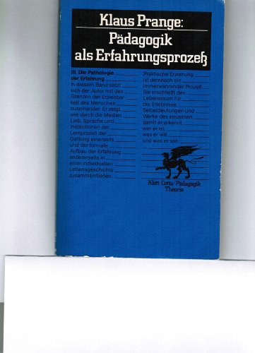 9783129263617: Die Pathologie der Erfahrung, Band 3