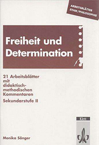 9783129268216: Arbeitsblätter Ethik. Freiheit und Determination.