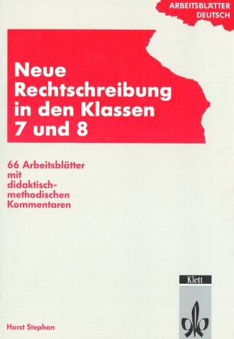 9783129274248: Neue Rechtschreibung, Klassen 7 und 8