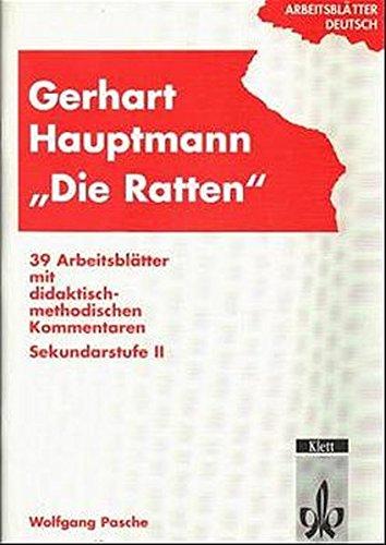9783129274354: Arbeitsblätter Gerhart Hauptmann