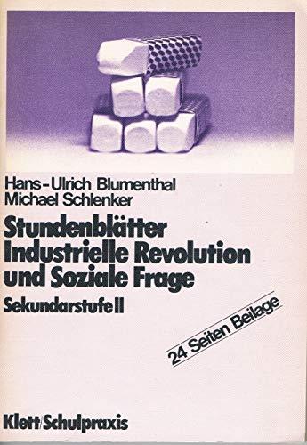 9783129276211: Stundenblätter Industrielle Revolution und Soziale Frage