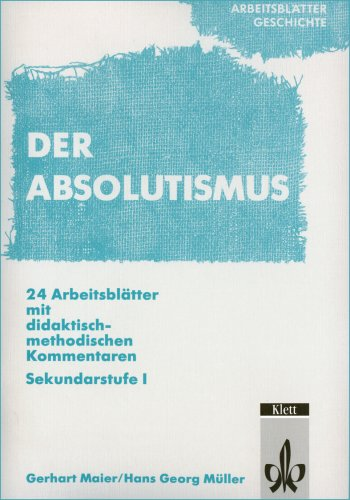 9783129278819 Arbeitsblätter Geschichte Absolutismus 24