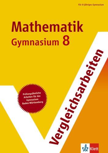 9783129292174: Vergleichsarbeiten Mathematik 8. Schuljahr Gymnasium. Baden-Württemberg