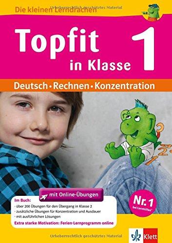 9783129296479: Topfit in Klasse 1: �bungsbuch f�r Deutsch, Rechnen und Konzentration mit Online-�bungen