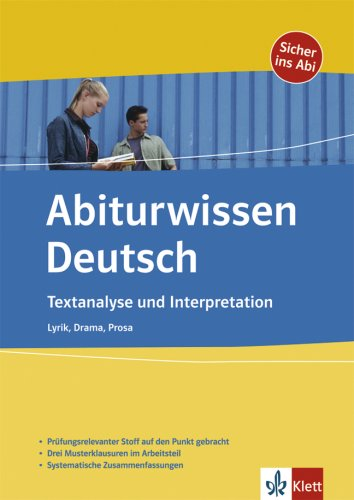 9783129297964: Textanalyse und Interpretation: Lyrik, Drama, Prosa