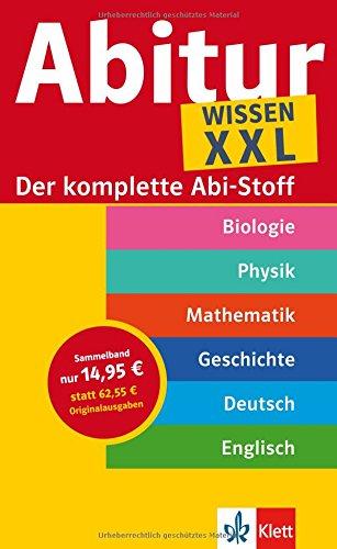9783129298015: Abi XXL: Der komplette Abitur-Stoff Mathematik - Geschichte - Englisch - Physik - Biologie - Deutsch